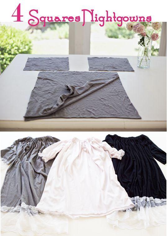 do it yourself divas: DIY: The 4 Squares Nightgown doityourselfdivas.com