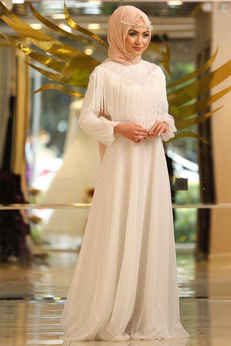 1f495f01f0717 En Şık Minel Aşk Tesettür Püsküllü Abiye Elbise Modelleri - Moda Tesettür  Giyim