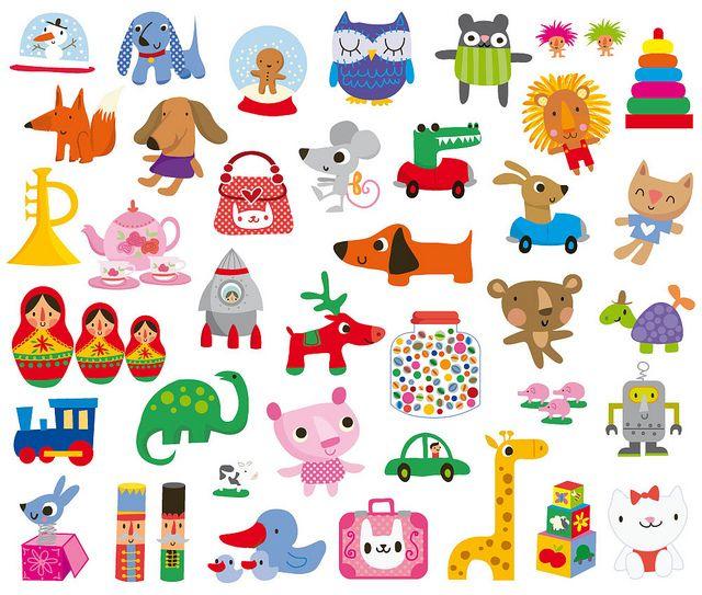 toys  By Stella Baggott - Shrinky Dink inspiration