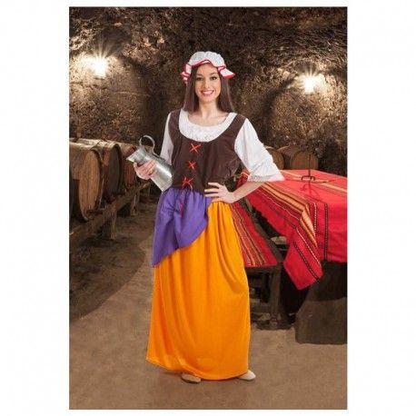 Disfraces medievales mujer   Disfraz de cortesana corpiño medieval. Compuesto de falda com pañuelo, camisa con corpiño y gorrito.  19,95€  #cortesana #corpiño #falda #larga #faldalarga #gorrito #disfraz #medieval #disfraces #medievales