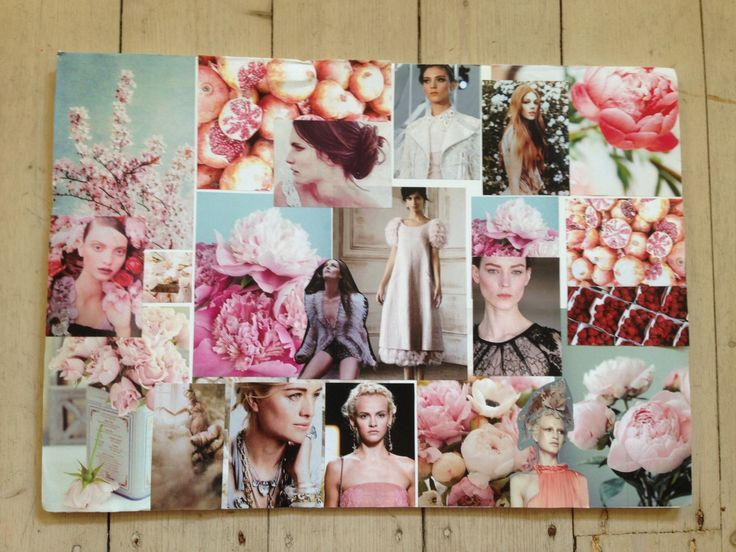 Before Pinterest and Instagram fashion mood board