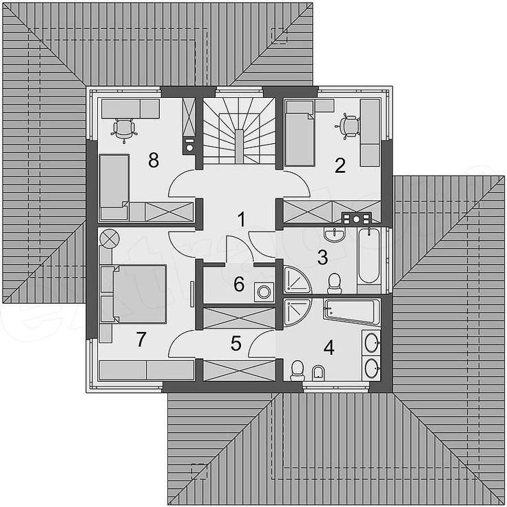Rzut piętra projektu Poliklet 2