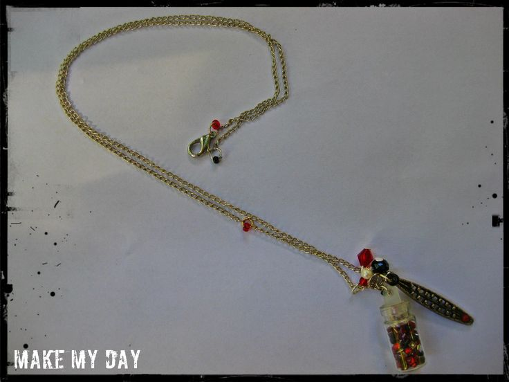 Make My Day ..Silver chain necklace with charms!!