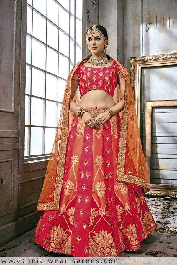 a436df66a6 Glitzy Pink Fancy Fabric Designer Lehenga Choli | EthnicWearSarees ...