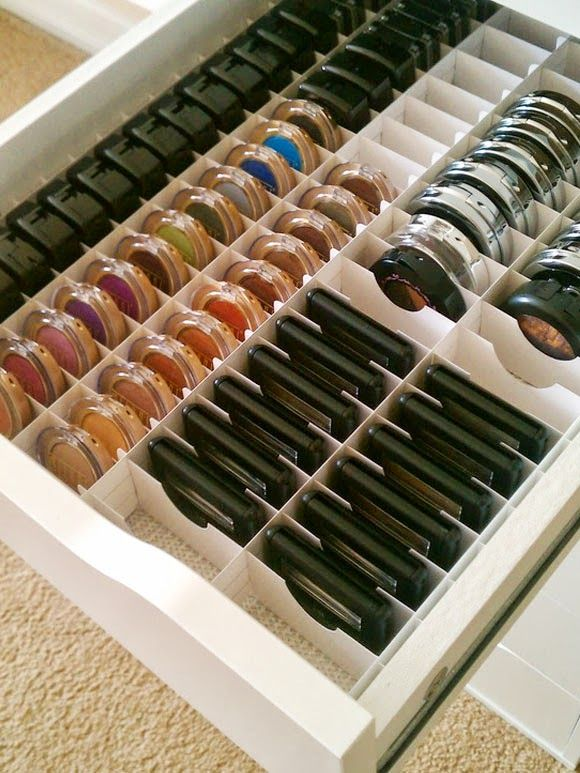 Make up storage solutions ~ My Simply Special