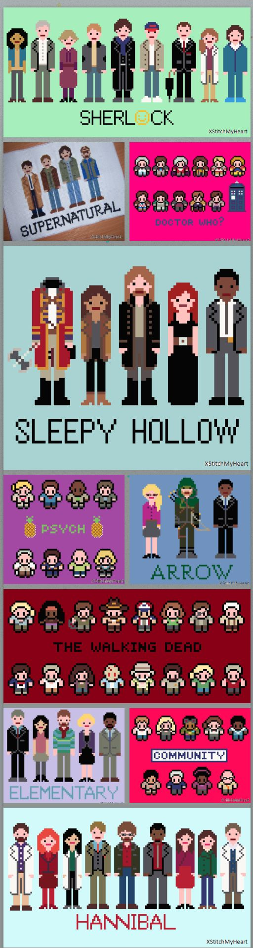 fandom cross stitch patterns