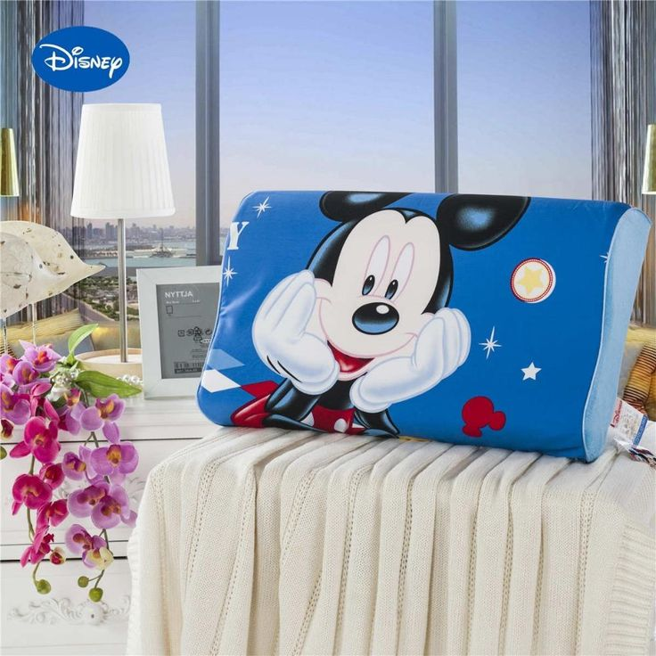 Mickey Mouse 20inx12in Memory Foam Cervical Neck Pillow