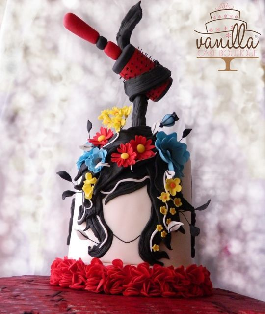 Crazy Hairbrush Vanilla cake boutique