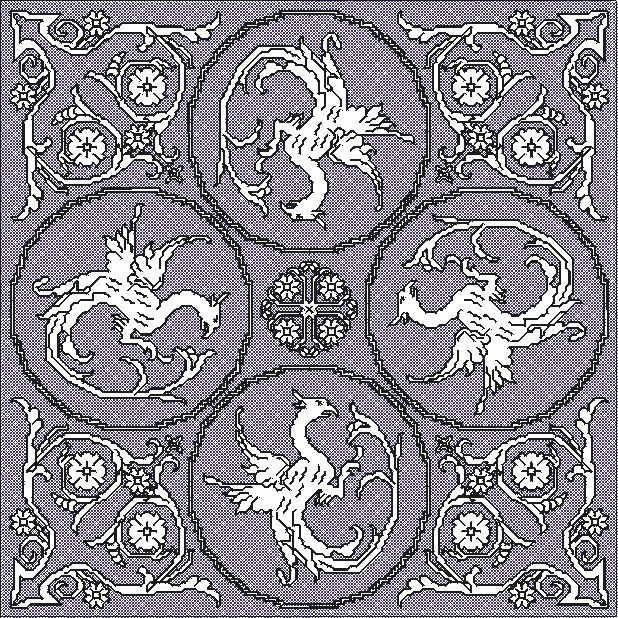 "Central part of the design ""dragon cloth"" - free design"