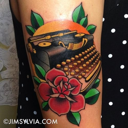 Jim Sylvia. Another lovely typewriter tattoo.