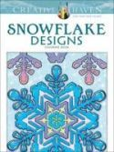 Creative Haven Snowflake Designs Coloring Book cover image