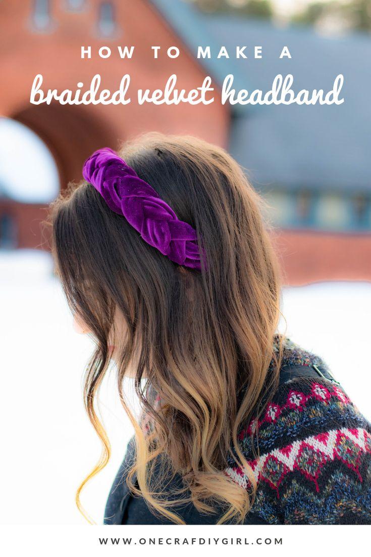Tutorial für geflochtenes Samt-Stirnband – Ein CrafDIY-Mädchen   – Top Blogs – Pinterest Viral Board
