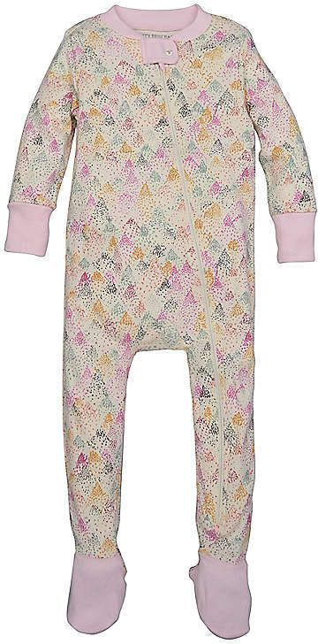 5868e9417 Dotted Mountain Organic Zip Front Footed Pajamas  sleeper snug fit ...