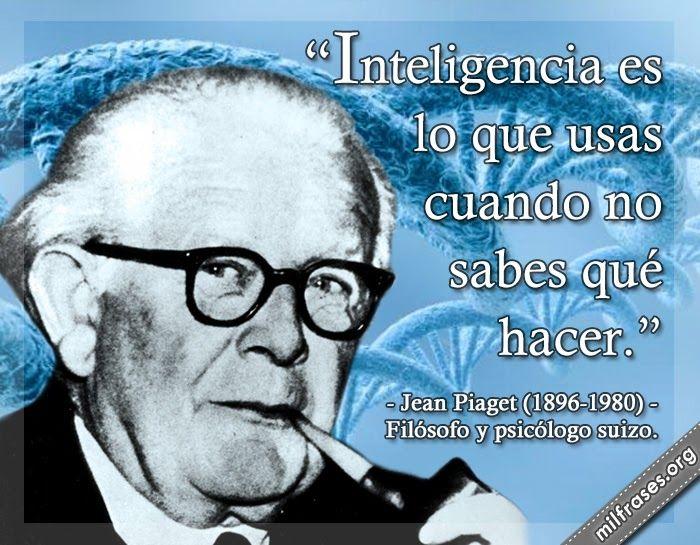 Jean Piaget, filósofo y psicólogo suizo.   Personajes ...