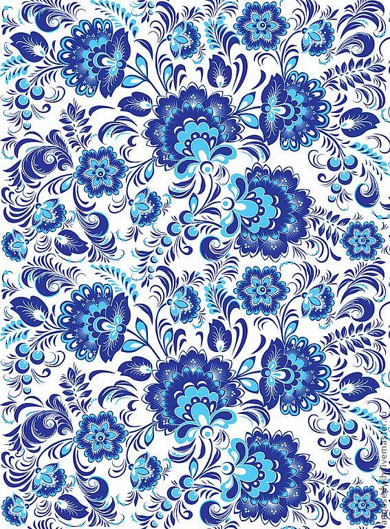 Gzhel textile