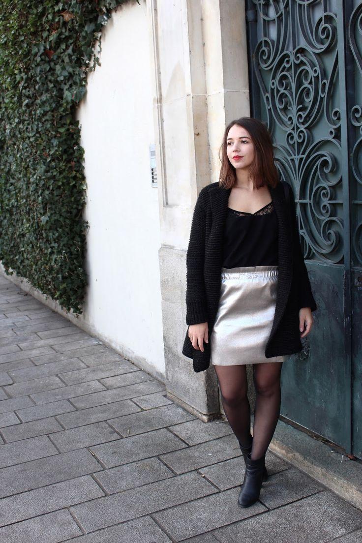 Jupe Métallique Metallic skirt