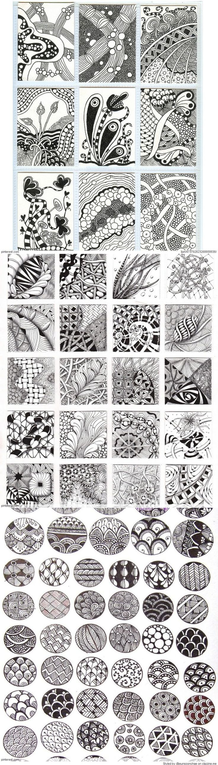 Zentangle patterns ideas be careful zentangle is naff for Drawing design ideas
