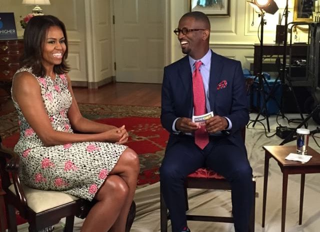 """Our First Lady Michelle Obama checked into """"The Rickey Smiley Morning Show"""" to remind people to get registered to vote, because the year's presidential election will be close. In addition, she talked about her well-received Democratic National Convention speech, getting private moments with President Obama, and keeping feeling of home in the White House. November 3, 2016"""
