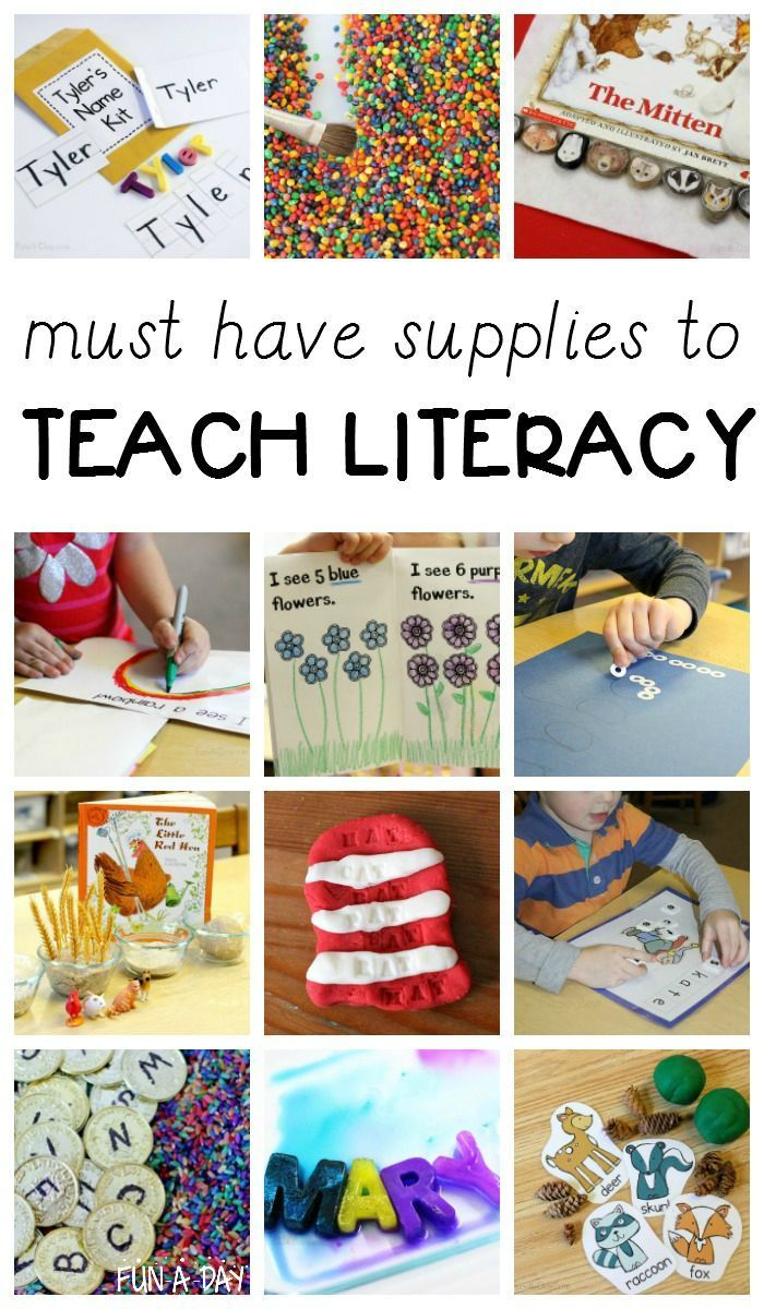 The best preschool supplies needed to teach early literacy