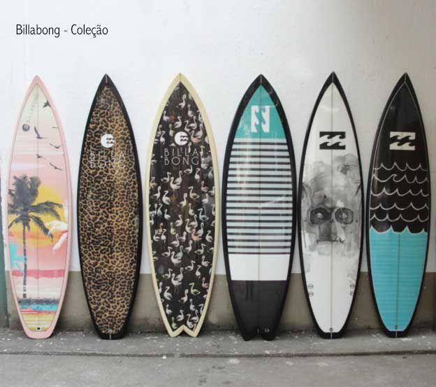 Surfboard - Coleção Billabong - Impressão para prancha de surfe - Cor da Prancha