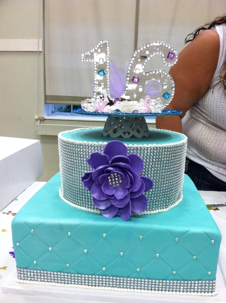 Gracie S Sweet 16 Cake Winter Wonderland Pinterest