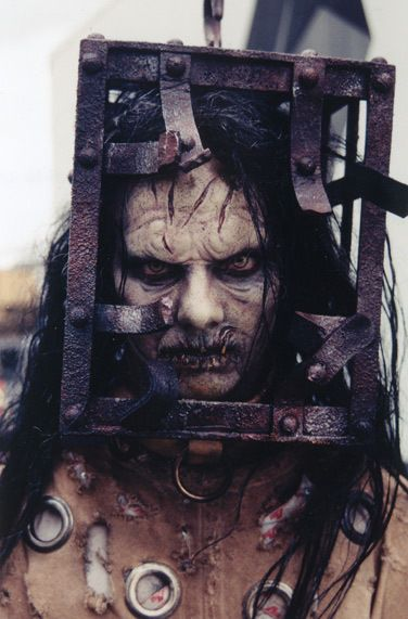 The Jackal makeup from the fil, 13teen Ghosts with Tony Shaloub and Matt Lillard  Love 13 ghost movie