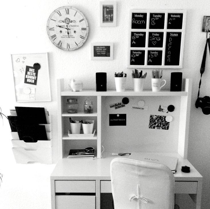 #micke #ikea #desk #black #white