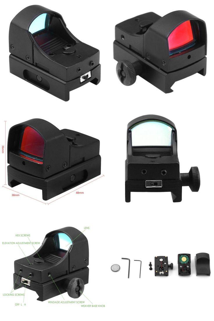 [Visit to Buy] Adjustable Brightness Riflescope Mini Holographic Sight Light Red Dot Scope Laser Rifle Scope Optics Hunting Tools #Advertisement