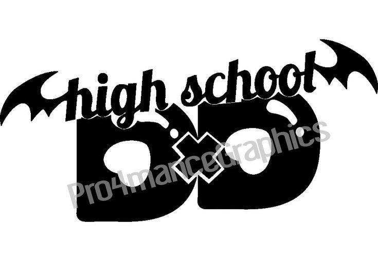 High school dxd highschool dxd laptop window sticker