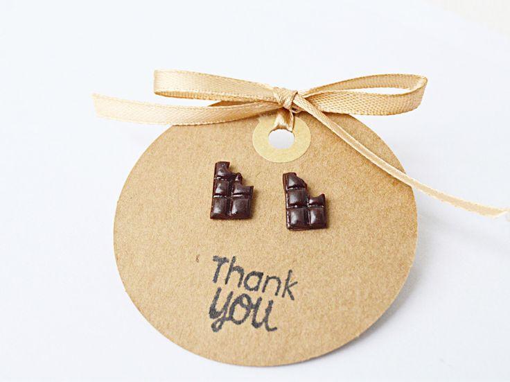 A personal favorite from my Etsy shop https://www.etsy.com/ca/listing/398185069/chocolate-bar-earrings-chocolate-studs