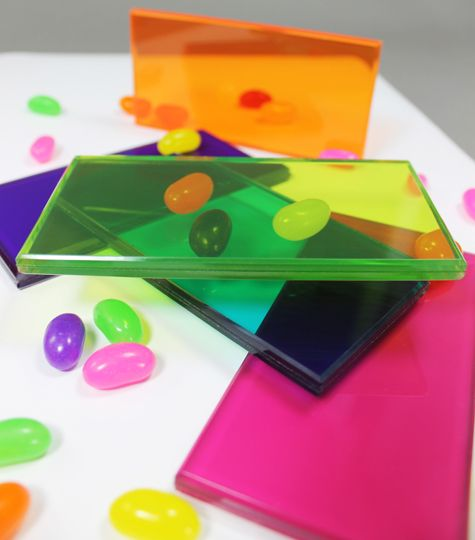 Jelly Bean color glass by Bendheim Architectural Glass