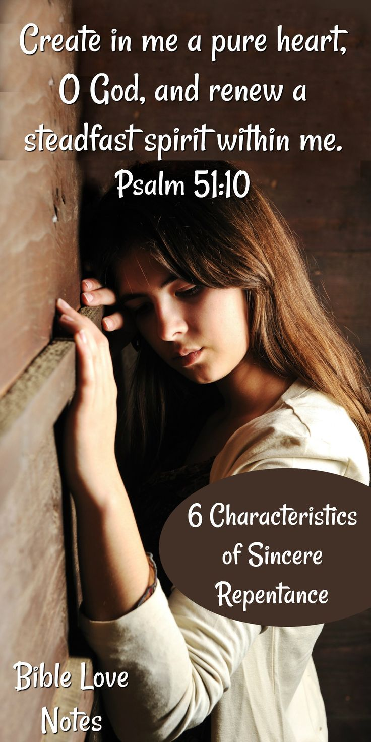 Short bible study outlining the importance of genuinely repenting of our sins