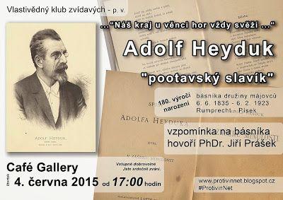 Protivín.net: Adolf Heyduk má 180. narozeniny