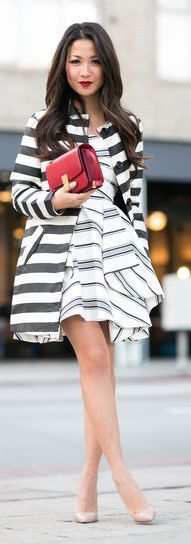Red And Stripes Outfit by Wendy's Lookbook