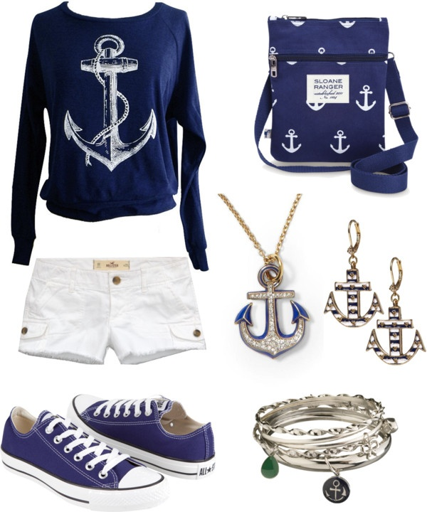 """refuse to sink"" by alessandraw ❤ liked on Polyvore. Love the bag and sweater!"