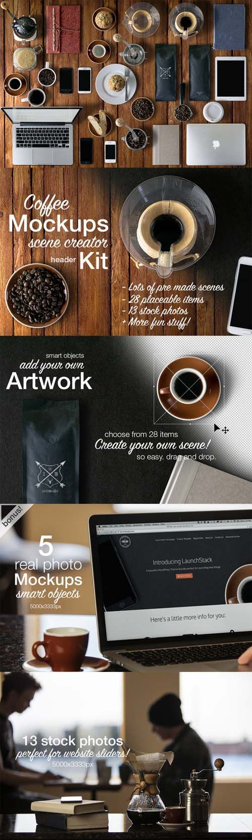 Coffee Mockups Scene Creator » Vector, PSD Templates, Stock Images, After Effects, Fonts, Web De ...