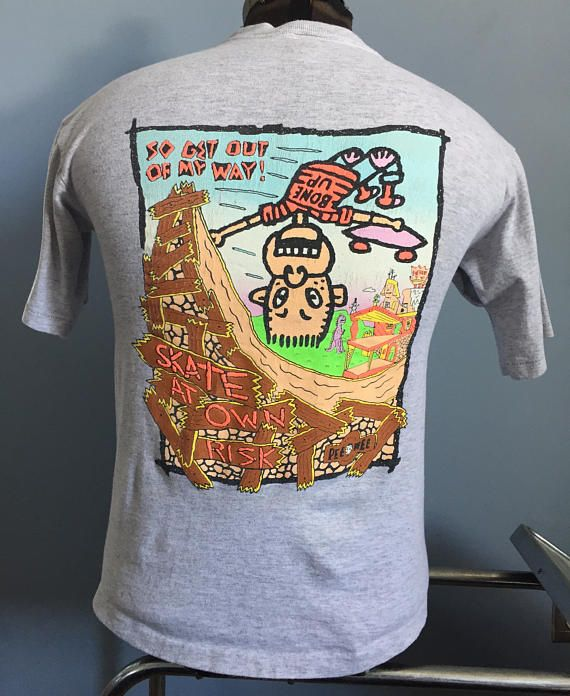80s Vintage Pee Wee's Playhouse 1989 Randy skateboard Herman Brand T-Shirt - XS X-SMALL