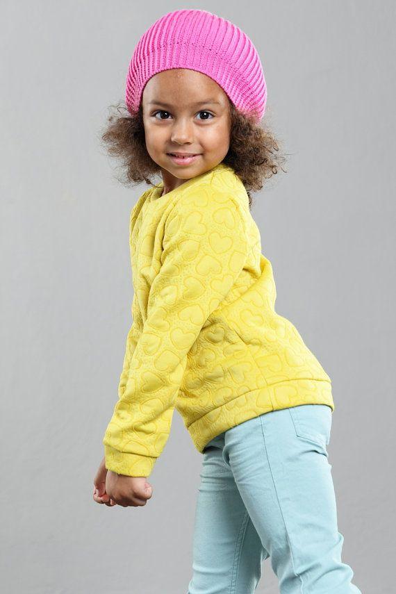 Neon pink knit beanie, kid's beanie