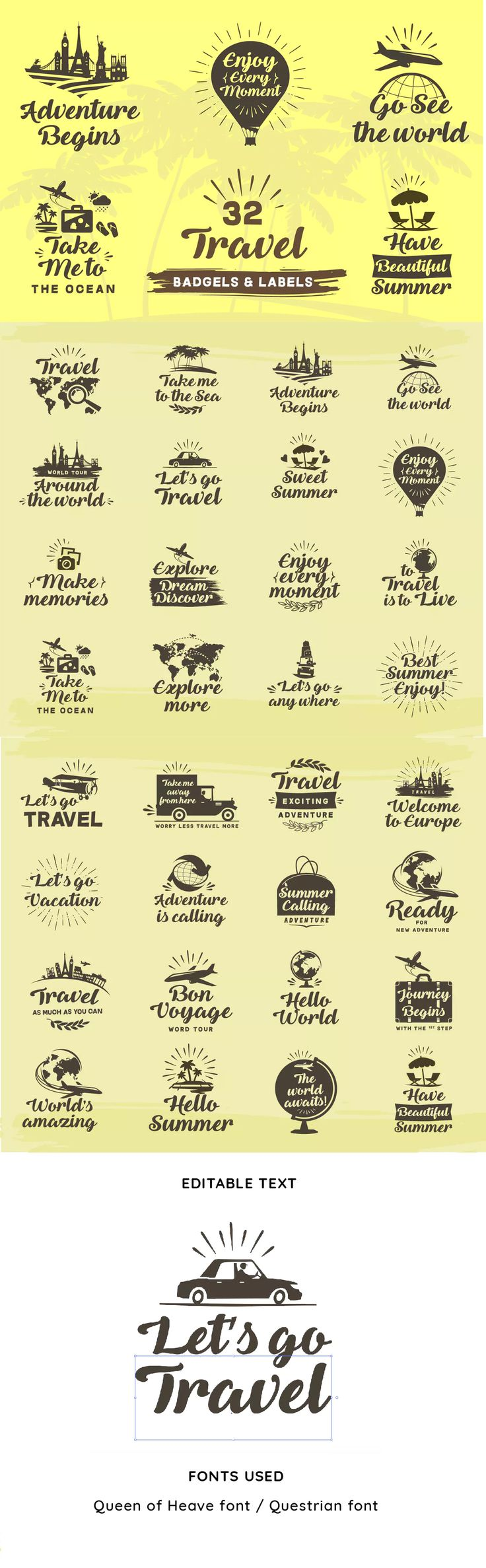 Best Badges And Stickers Templates Images On Pinterest - Travel name tag template