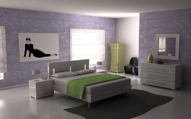 Camera con arredi laccati - Come arredare la camera da letto in stile moderno con i mobili in laccato lucido.