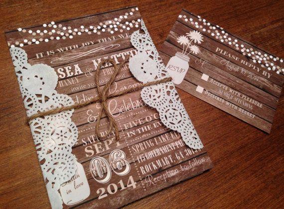 Rustic Wedding InvitationBarn Wedding by CCPrintsbyTabitha on Etsy