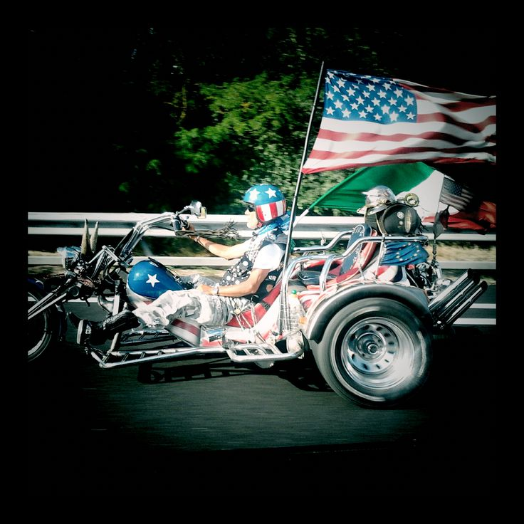 Special Trike Motorcycle American Patriot  American flag stars and stripes