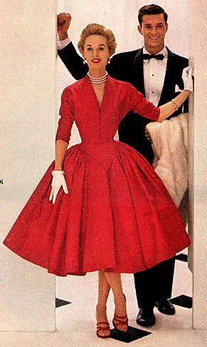 Red dress 50s artists