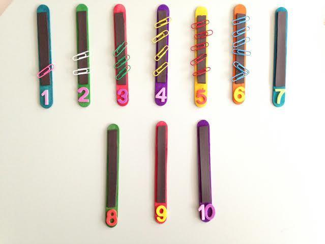 Bâtonnets aimantés - Astuces d'une instit en maternelle