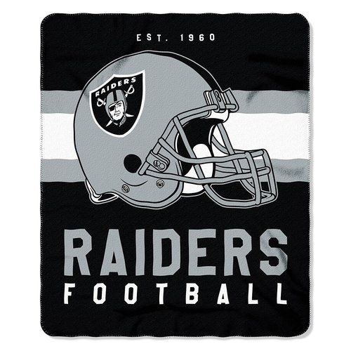 NFL Oakland Raiders Team Marque Design 50x60 Fleece Throw Blanket