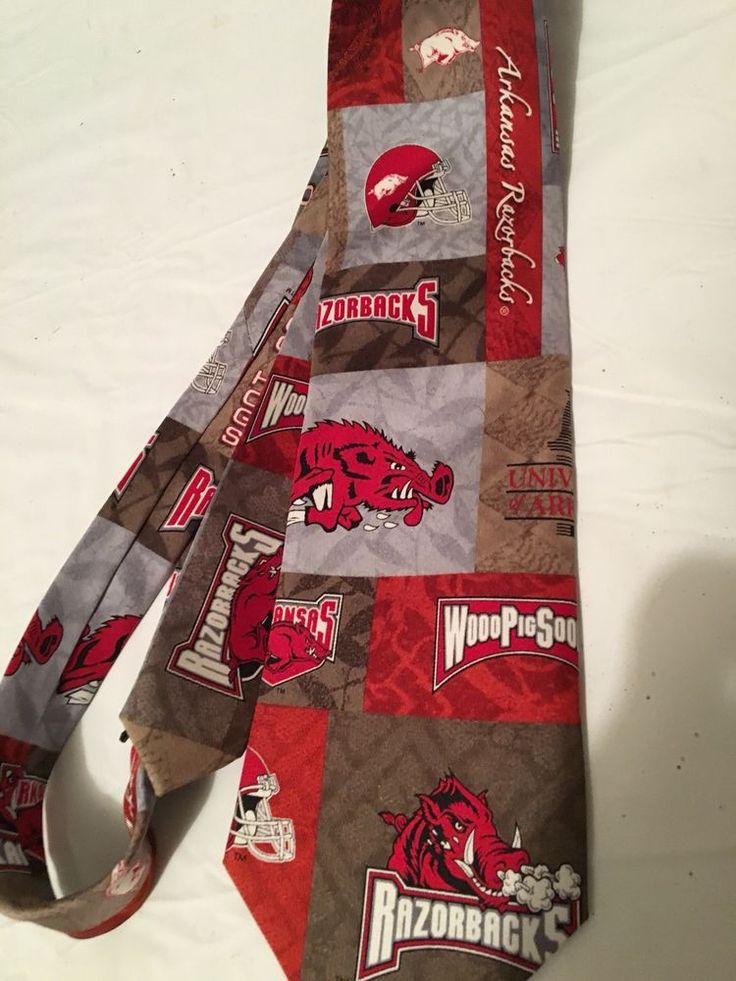 arkansas razorbacks Hog College Football Eagle Wings Silk Tie Sz 3 3/4 X 60 Ins | Sports Mem, Cards & Fan Shop, Fan Apparel & Souvenirs, College-NCAA | eBay!