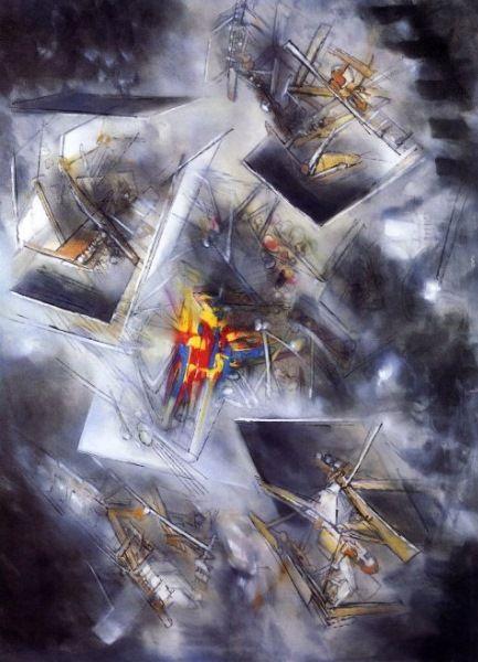 Esto es uno de los obras que el pintado, los obras de el fueron muy geométrico y detallado.