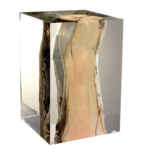 Such a cool idea!  Acrylic Glass Nilleq Side Table & Stool – Laurier Blanc   Unique Home Decor From Around The World