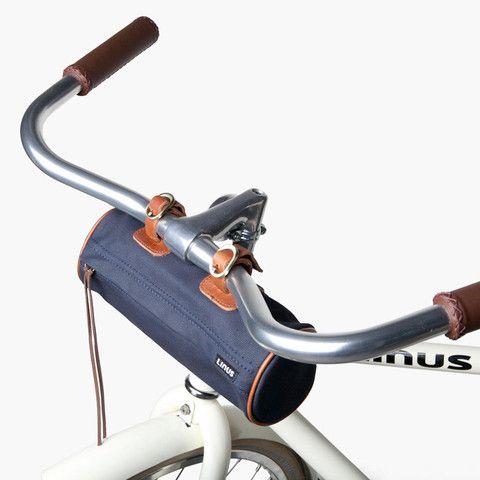 Navy bike frame bag - poketo