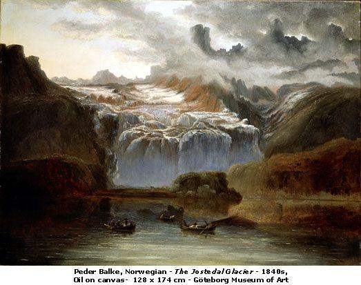 Peder Balke (1804-1887): The Jostedal Glacier, 1840s